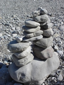CAIRN ON RIVER IN BAD TOLZ GERMANY