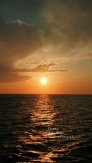 Signed - Sunset from Ferry offshore Ocracoke